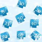 圣诞节和新年度销售额 库存照片