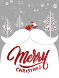 圣诞节和新年快乐贺卡 免版税库存照片