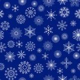 圣诞节和新年无缝的蓝色样式 免版税库存照片