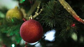 圣诞节和新年树装饰、诗歌选和玩具 影视素材