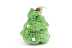 圣诞节和新年玩具树 免版税库存照片