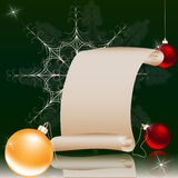 圣诞节和新年背景 免版税库存图片