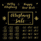圣诞节和新年销售书信设计集合 库存照片