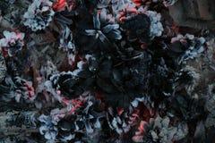 圣诞节和新年imege 明信片 森林在火的冷杉球果 免版税库存照片