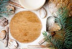 圣诞节和节假日烘烤,准备好的模板 免版税库存图片