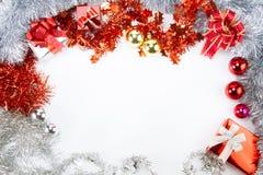 圣诞节和装饰框架 免版税库存照片