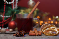 圣诞节和食物背景 免版税库存照片
