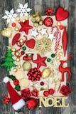 圣诞节和Noel标志的标志 免版税库存照片