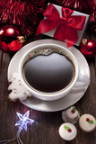 圣诞节咖啡巧克力曲奇饼 图库摄影