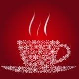 圣诞节咖啡杯 免版税库存图片