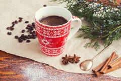 圣诞节咖啡杯 库存图片
