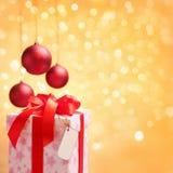圣诞节唯一装饰品的模式 免版税库存照片