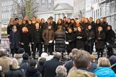 圣诞节唱诗班 库存照片