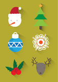 圣诞节商标/象,横幅 免版税库存照片