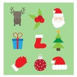 圣诞节商标/象,横幅 免版税图库摄影