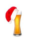 圣诞节啤酒 免版税库存照片