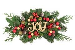 圣诞节喜悦装饰 免版税库存图片
