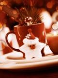 圣诞节器物集合静物画 免版税图库摄影