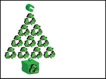圣诞节回收结构树xmas 图库摄影