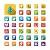圣诞节图标新年度 免版税图库摄影