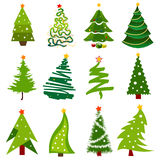 圣诞节图标结构树 皇族释放例证