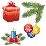 圣诞节图标集 免版税库存照片