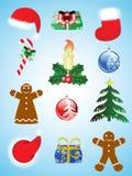 圣诞节图标集 向量例证