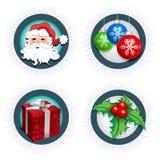 圣诞节图标集 库存照片