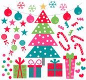 圣诞节图标 图库摄影