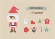 圣诞节图标 库存图片