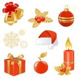 圣诞节图标 免版税图库摄影