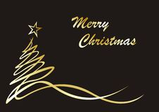 圣诞节图画排行结构树 免版税库存图片