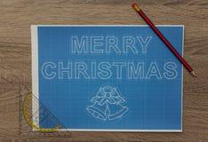 圣诞节图纸 免版税库存图片