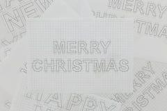 圣诞节图纸 免版税库存照片