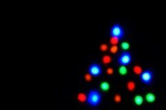 圣诞节图象点燃更多我的投资组合结构树 图库摄影