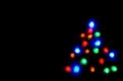 圣诞节图象点燃更多我的投资组合结构树 免版税库存照片