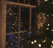 圣诞节图象点燃更多我的投资组合结构树 库存照片