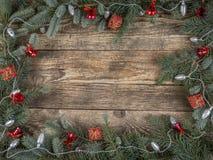 圣诞节土气框架 免版税库存照片
