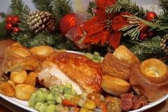 圣诞节土耳其晚餐 库存图片