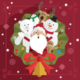 圣诞节圣诞老人和朋友 库存图片