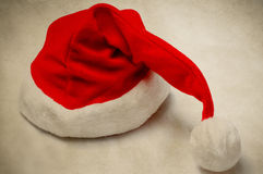 圣诞节圣诞老人帽子-葡萄酒样式 库存照片