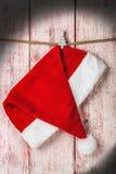 圣诞节圣诞老人帽子 免版税图库摄影
