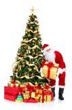 圣诞节圣诞老人微笑的结构树 图库摄影