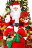 圣诞节圣诞老人微笑的结构树 免版税库存照片