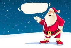 圣诞节圣诞老人讲话与消息云彩 图库摄影
