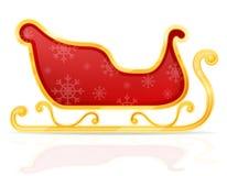 圣诞节圣诞老人雪橇股票传染媒介例证 向量例证