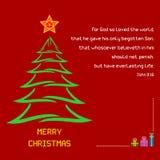 圣诞节圣经诗歌约翰3:16 免版税库存图片
