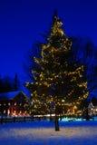 圣诞节在一个小镇 免版税库存图片