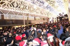 圣诞节在伊斯坦布尔,土耳其 免版税库存图片