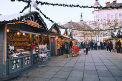 圣诞节在克拉根福,奥地利,欧洲 库存照片
